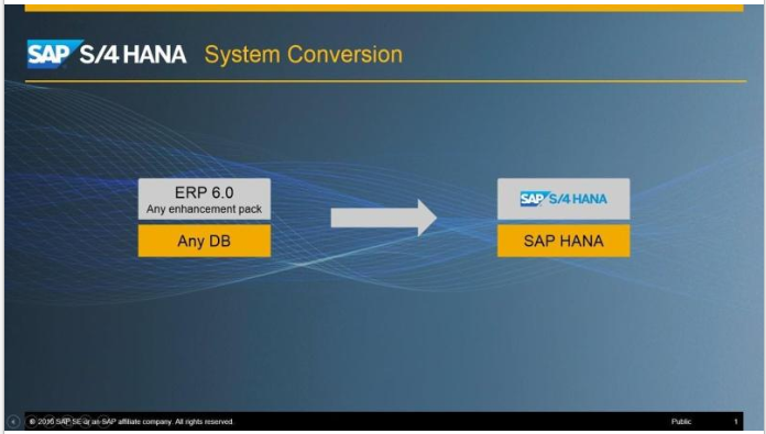 SAP S/4HANA System Conversion