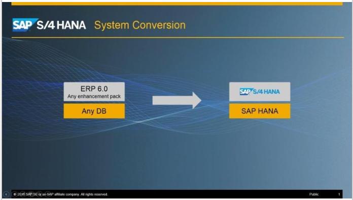 SAP S/4HANA System Conversion