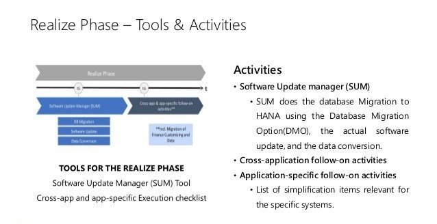 SAP Realize Phase| SAP Tools & Activities