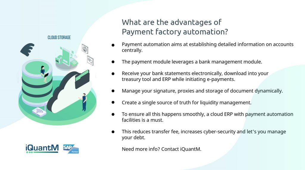 Payment factory automation
