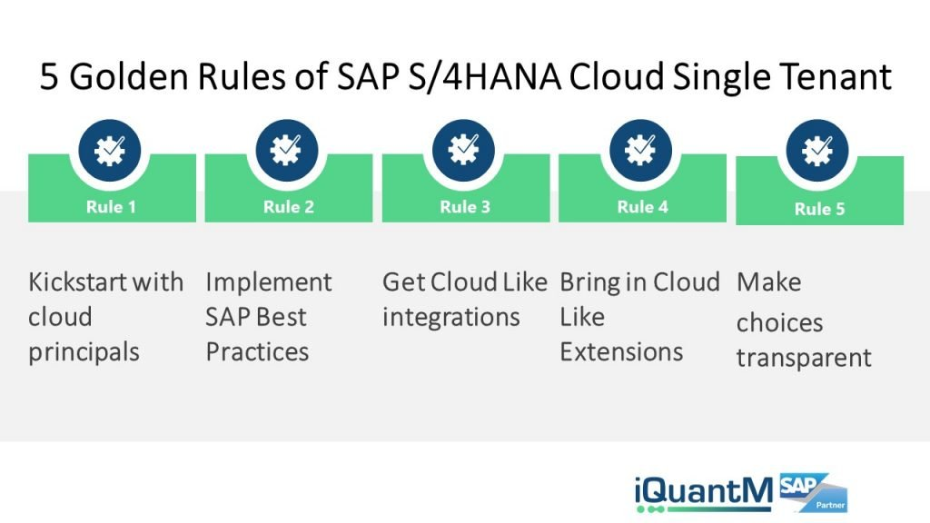 SAP S/4HANA Cloud single vs multi-tenant